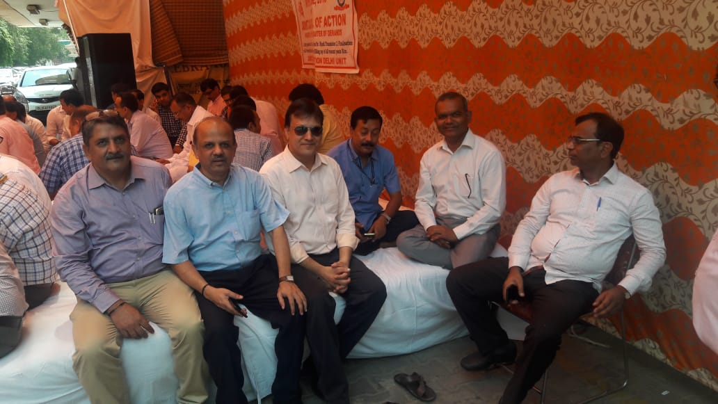 DHARNA AT C R BUILDING
